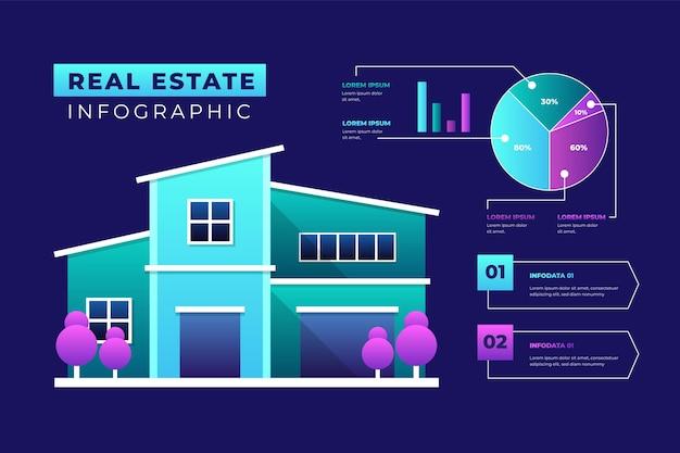 Realistische immobilien-infografik-vorlage