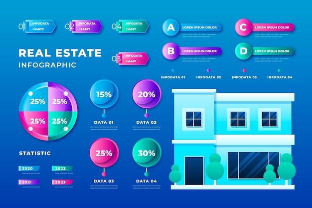 Realistische immobilien-infografiken