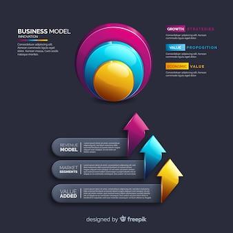 Realistische infographic elementplastiksammlung