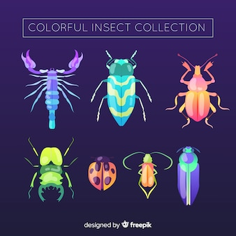 Realistische insektensammlung