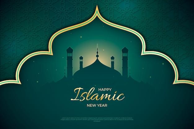Realistische islamische neujahrsillustration