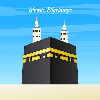 Realistische islamische pilgerfahrt mit türmen