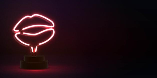 Realistische isolierte leuchtreklame