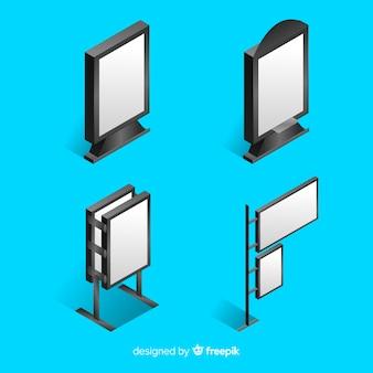 Realistische isometrische plakatwandsammlung