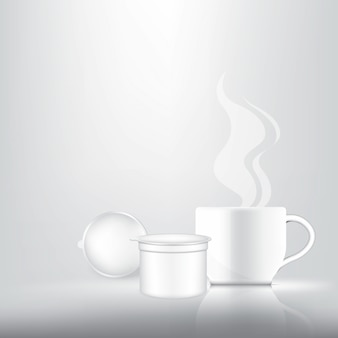 Realistische kaffeekapsel für 3d
