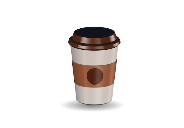 Realistische kaffeetasse des leeren papiers