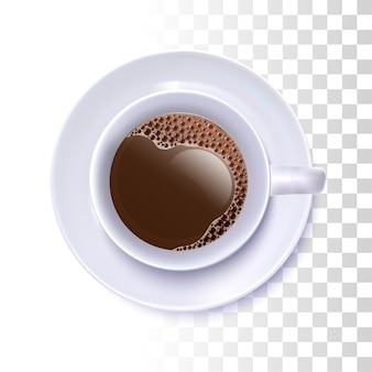 Realistische kaffeetasse