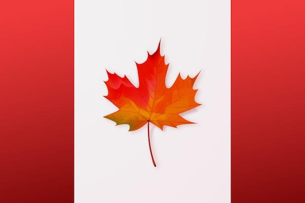 Realistische kanada-tagesillustration