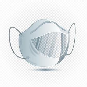 Realistische klare gesichtsmaske für gehörlose
