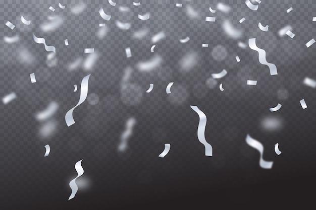 Realistische konfetti-tapete