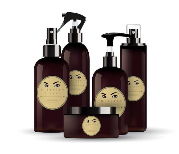Realistische kosmetische cremebehälter