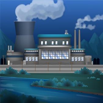 Realistische kraftwerksillustration