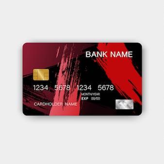 Realistische kreditkarte