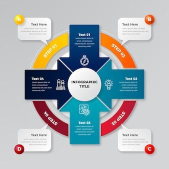 Realistische kreisdiagramm-infografik