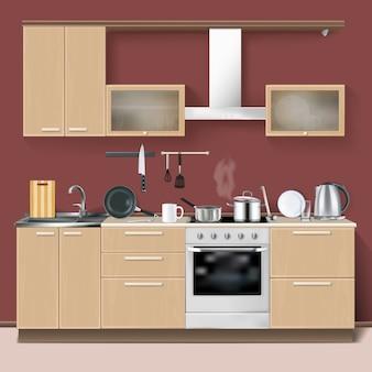 Realistische küche interieur