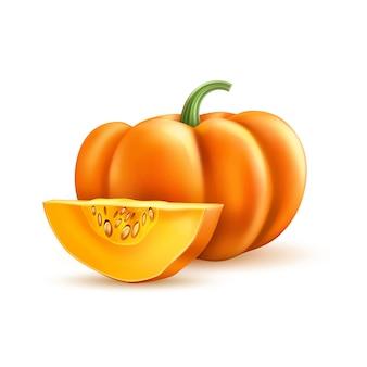 Realistische kürbis halloween thanksgiving