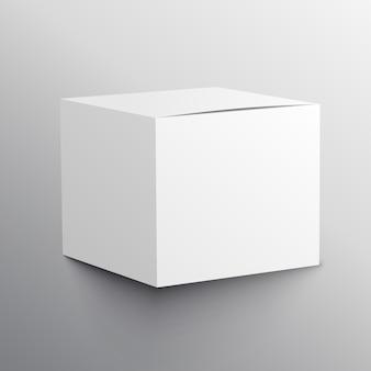 Realistische leere box mockup template design