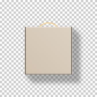 Realistische leere kartonverpackung. . vorlage . realistische illustration.
