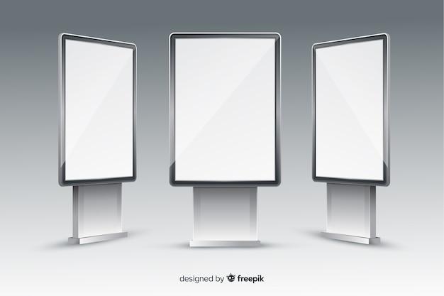 Realistische leuchtkästenwand
