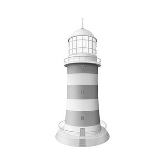 Realistische leuchtturmillustration