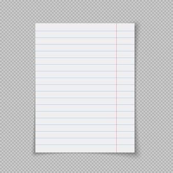 Realistische linierte briefpapiere illustrationen eines zerrissenen blattpapiers zerrissener weißer zettel
