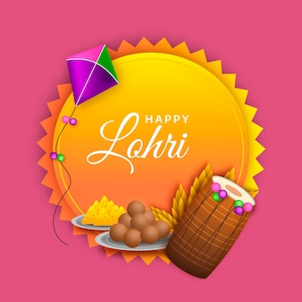 Realistische lohri-illustration