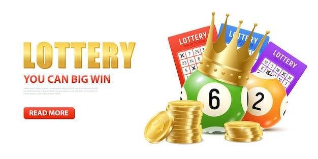 Realistische lotterieillustration