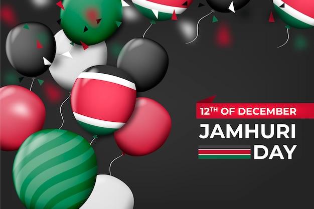 Realistische luftballons für den jamhuri-tag