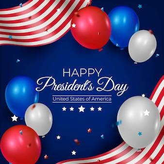 Realistische luftballons für den tag des präsidenten