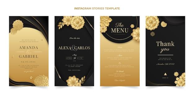Realistische luxus-instagram-geschichten zur goldenen hochzeit