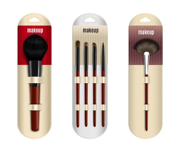 Realistische make-up pinsel set