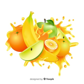 Realistische mangoillustration