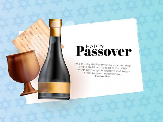 Realistische matze mit kidduschbecher für jüdisches passah