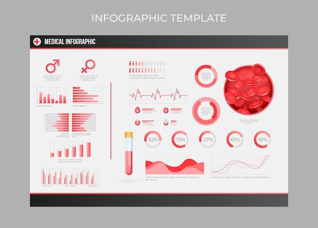 Realistische medizinische infografik-vorlage