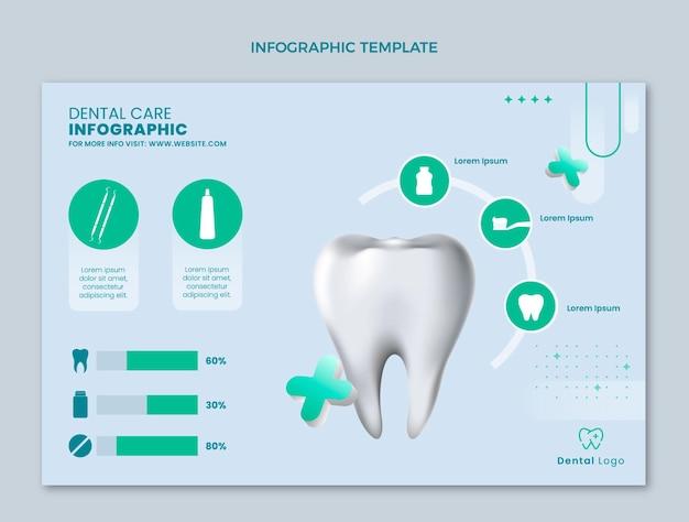 Realistische medizinische infografik