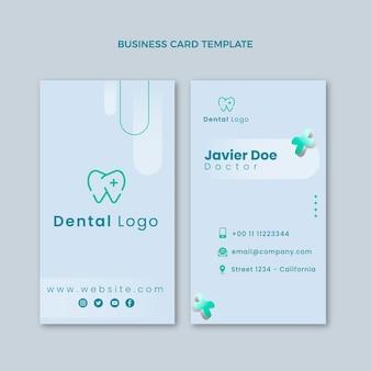 Realistische medizinische visitenkarte vertikal