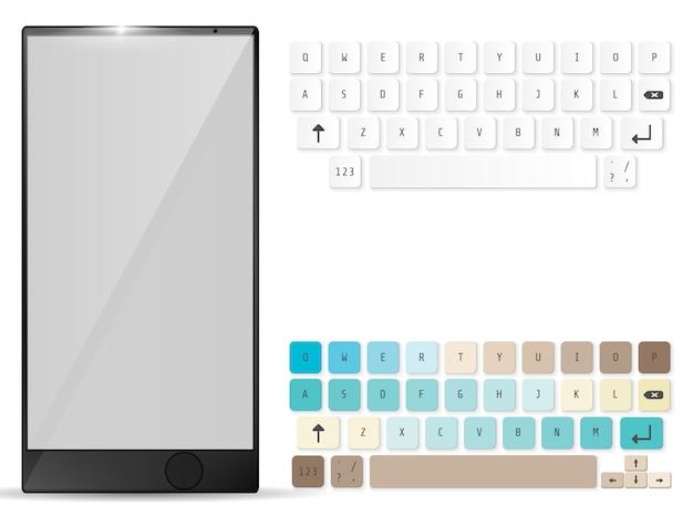 Realistische mobile und mobile tastatur