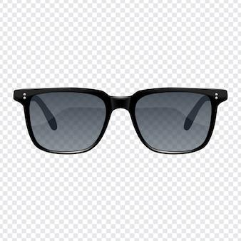 Realistische mode sonnenbrillen für männer mit transparentem hintergrund