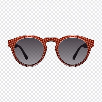 Realistische mode sonnenbrillen mit transparentem hintergrund