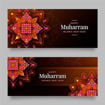 Realistische muharram-banner eingestellt