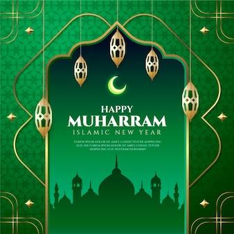 Realistische muharram-illustration