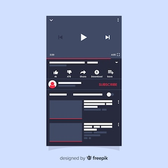 Realistische multimedia-player-vorlage