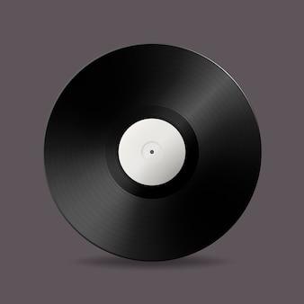 Realistische musik grammophon vinyl lp rekord symbol. vorlage von retro long play.