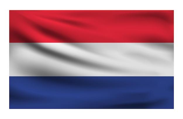 Realistische nationalflagge der niederlande