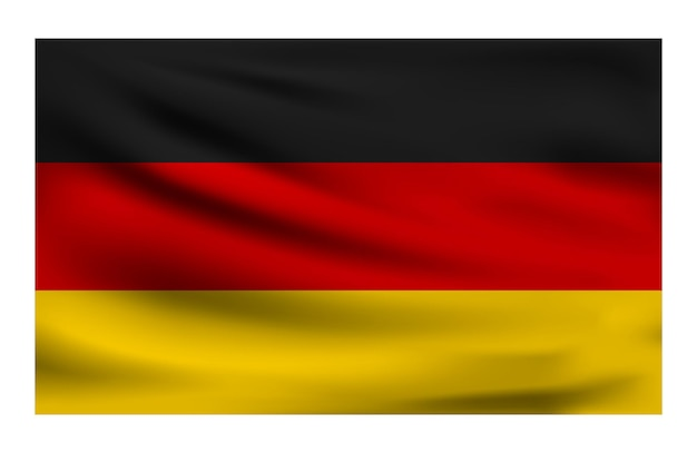 Realistische nationalflagge von deutschland