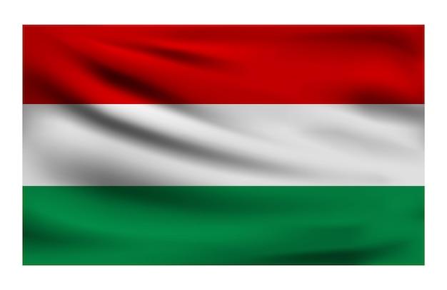 Realistische nationalflagge von ungarn
