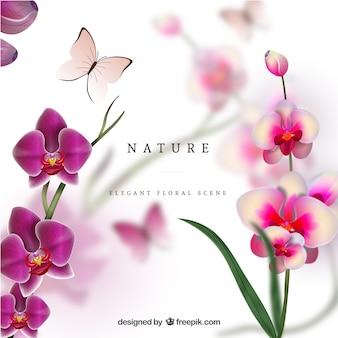 Realistische natur-szene