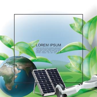 Realistische öko-energie-vorlage