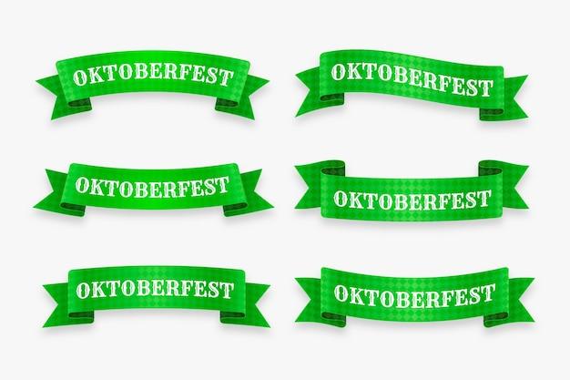 Realistische oktoberfest-bänder-kollektion