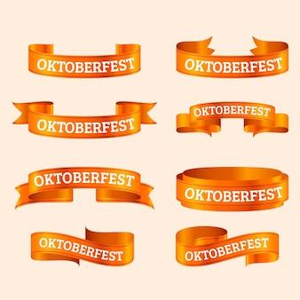 Realistische oktoberfest bänder sammlung